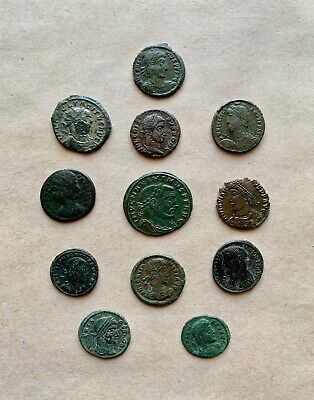 A nice lot of 12 Roman Bronze Coins of varying Types.