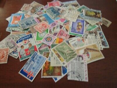 Collection lot 140 different large stamps of the Philipines