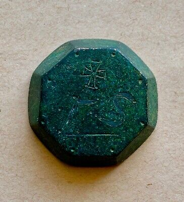 Large byzantine bronze octagonal weight of 3.5 ounces. An impressive rare piece!