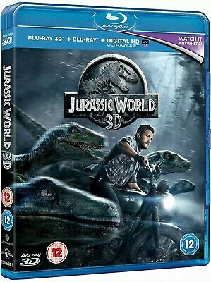 Jurassic World - Blu Ray 3D + Blu-Ray And Digital Download - New And Sealed