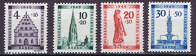 Germany Allied Occ. French Zone 1949 Rebiulding Fund set SGFB38-41 mint hinged