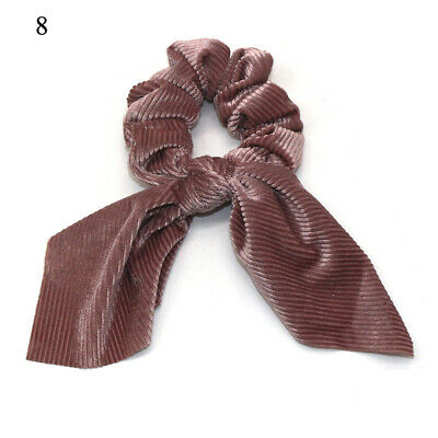 Women Velvet Elastic Knotted Bow Hair Rope Ponytail Holder Hair Ring Hair Ties