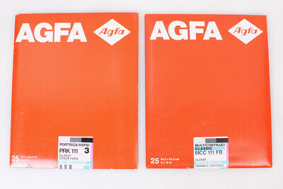 Agfa Darkroom Photographic Paper Fiber/Baryta-Paper 2 Partial Packages