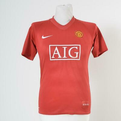 Manchester United 2007-2009 Football Shirt Jersey by Nike | Home | Size XL Kids