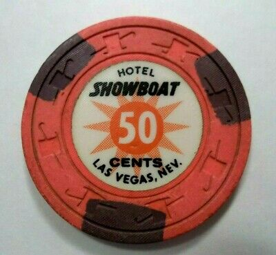 "Showboat Casino Poker Chip ""Thick Print"" Las Vegas Nevada"