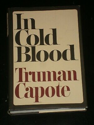 IN COLD BLOOD by Truman Capote (Hardcover, 1965) RARE BOOK CLUB SIZE CRIME NOVEL