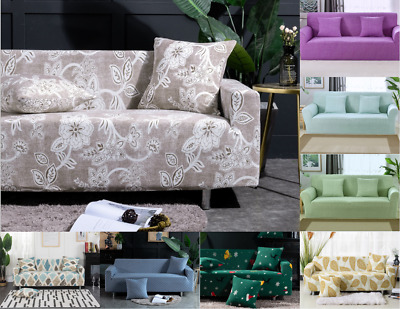 Easy Fit Sofa Couch Slipcover Stretch Protector 1-4 Seater floral Sofa Covers