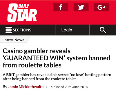 Roulette System 2 Number Only- £100,000 If You Lose! Rainbow Killer Book!