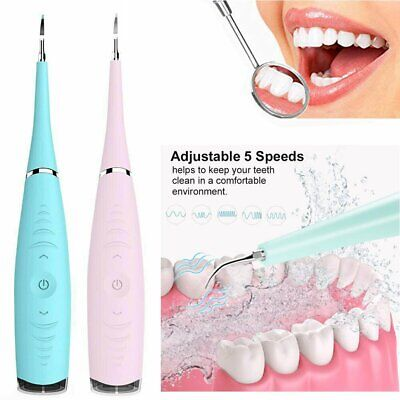 Electric Sonic Dental Scaler Tartar Calculus Plaque Remover Tooth Stains Tool UK