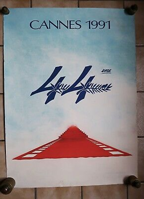 Affiche  Festival De Cannes Film  Cinema  1991