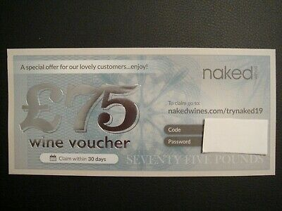 Naked Wines - Voucher / Coupon for £75 Off Case £114.99 Or More