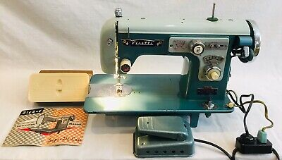 VINTAGE VISETTI Super De Luxe Zig Zag Sewing Machine,Manual,Attachments WORKS!