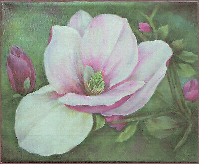 """Mary M Wiseman tole painting pattern """"Pink Magnolia"""""""