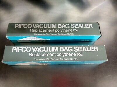 2 Original Vacuum Rolls Bags For  Pifco Sealer 1121