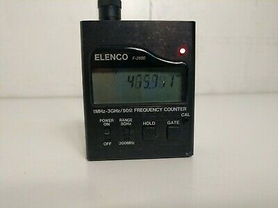 Elenco F-2800 1MHz-3GHz/50 Handheld Frequency Counter No Charger