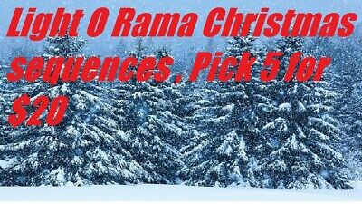 Light O Rama Christmas sequences 48 channel, pick 5 for $20