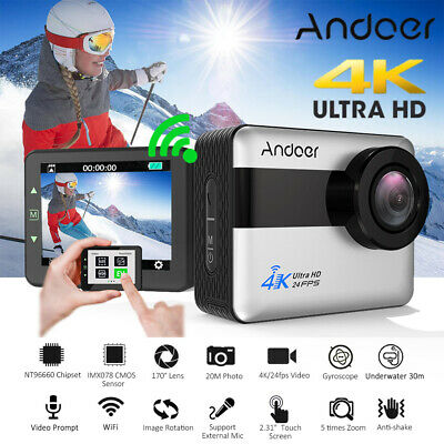Andoer AN1 4K HD 1080P 20MP 5X ZOOM WiFi Sports Action Camera Camcorder DV Y2C8