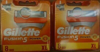 x2 Gillette Fusion5 Power Razor Blades Pack Of 8(16 Blades In Total) New& sealed