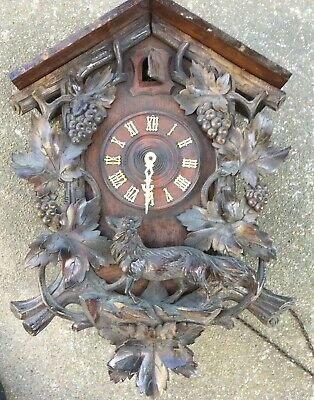 Large Antique German  Black Forest  Cuckoo Clock