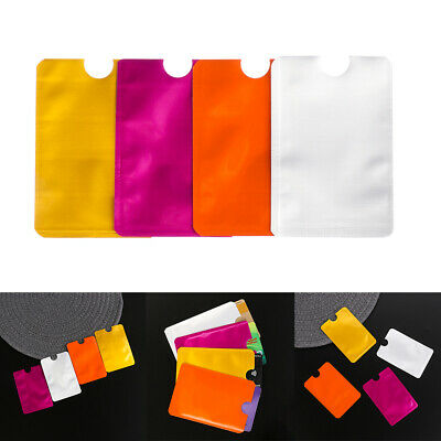 Credit Cards Protect Case Cover Card Holder RFID Blocking Sleeve Wallet