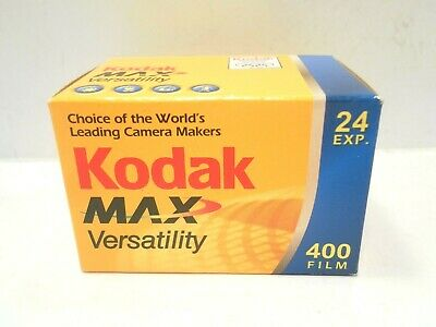 Vintage 24Exp Film KODAK MAX Versatility 400 Color 35mm Expired CAT 650 2637 New