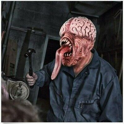 Long Tongue Monster HALLOWEEN ADULT the Zombie Horror Scary Monster Mummy Mask
