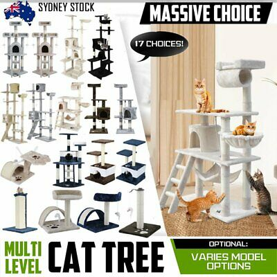 Cat Tree Scratching Post Scratcher Pole Gym Toy House Furniture Multi Level Sk