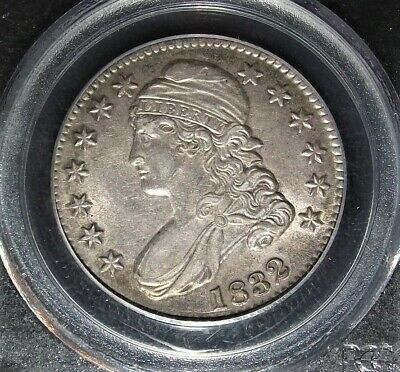 1832 Bust Half Pcgs Au55 Lite Toning Great Eye Appeal With Strong Strike