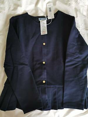 "Brand New!! Jacadi cardigan ""cotton"" blue size 8 YEARS. French label.."