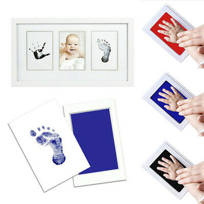 Footprint Newborn Handprint Safe Foot Inkless Gift Hand Print Wipe Kit Precious~