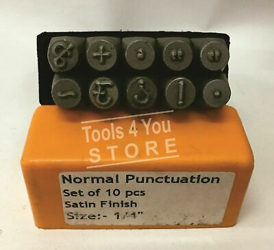 """1/4""""  Normal Punctuation Design Punch Set Of 10 Pieces"""