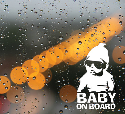 Baby On Board Funny Car Child Children Window Bumper Sticker Vinyl Decal
