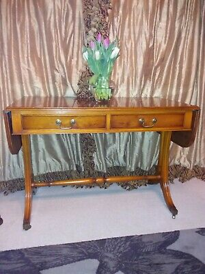 Bevan Funnell Reprodux regency style yew sofa table in excellent condition