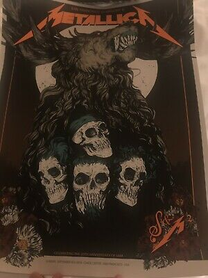 Metallica San Francisco Poster Chase Center Poster Night 2 S&M2 9/8/19 #/670
