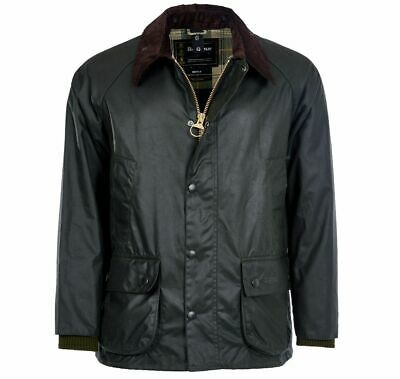 New Barbour Bedale Waxed Jacket Size 38 M Sage Khaki Olive Green Coat £270.00