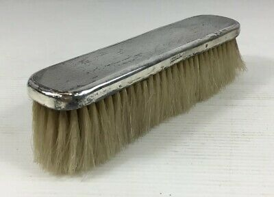 Fine Antique 1919 Finnigans Ltd Solid Silver Clothes Brush 18cm In Length