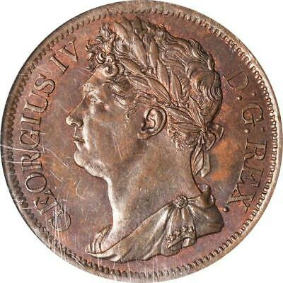 1823 Ireland 1 Penny, NGC MS 64 RB, KM 151