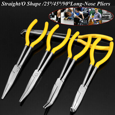 "1pc 11"" Long Straight Needle Nose Pliers long Reach Easy Gripping Tools Portable"