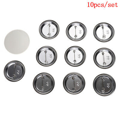 10 Pcs/Set 44Mm Diy Badge Button Cover Parts Supplies For Pro Maker Mach Cw^S