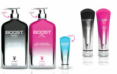 Protan Playboy BOOST Fast Tanning Sunbed Lotion Tan Extending Dark Bronzer Cream
