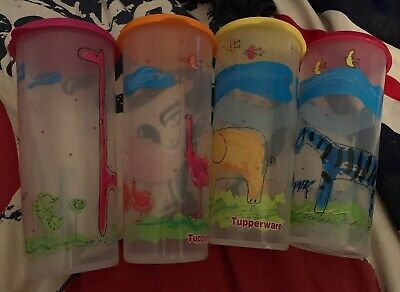 Set Of 4 💕Tupperware Go Flex Collapsible Containers 470mls Each Used💕