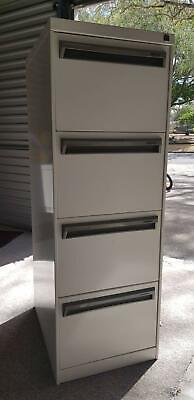 Filing Cabinet 4 drawer, white powder-coated, very good condition