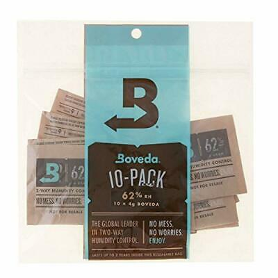 Boveda 62% RH 4 Gram, patented 2-Way Humidity Control, (1) 10-Pack, Unwrapped Bo