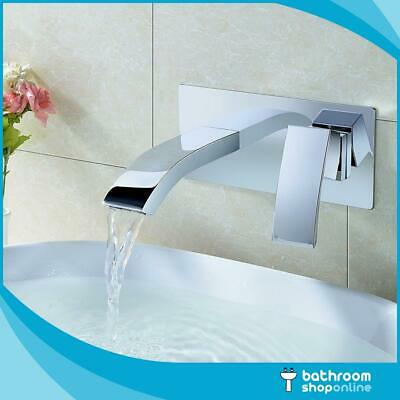 Wall Mounted Basin Mixer – Modern Designer Bathroom Chrome Tap