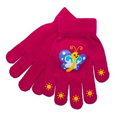 RJM Kids Childrens Girls Thermal Magic Winter Gloves One Size Assorted Colours