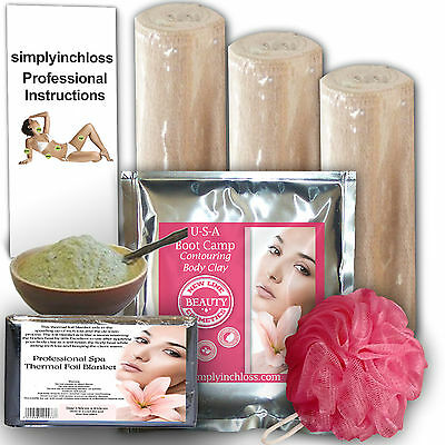 inch loss/slimming body clay  500gms And 3 Contour Body Wrap bandages kit