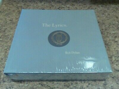 Bob Dylan - The Lyrics: Since 1962 -Rare 1st Edition -- Giant hardcover, SEALED!