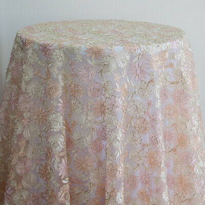 Organza Embroidered Tablecloths Christmas Table Cover Wedding Home Decor