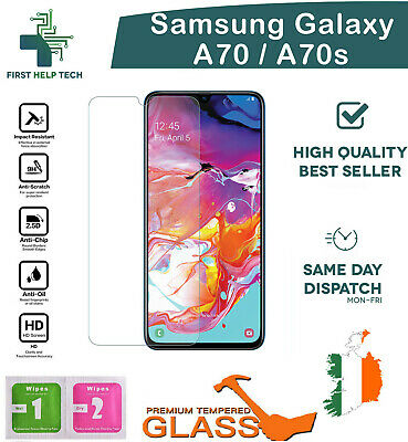 For Samsung Galaxy A70 A70s Tempered Glass Screen Protector Guard Cover New