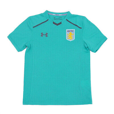 Aston Villa FC Official Football Gift Boys Youth Poly Training Kit T-Shirt